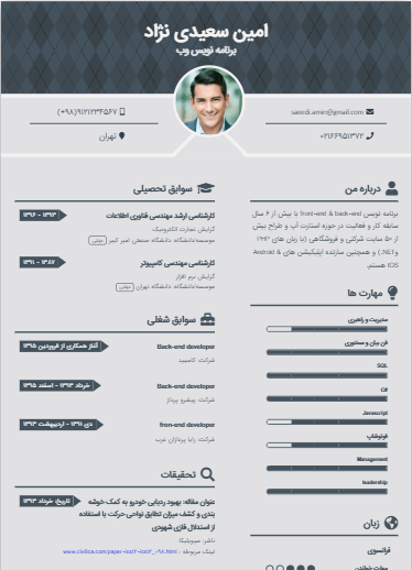 Sample resume of Academic-Template