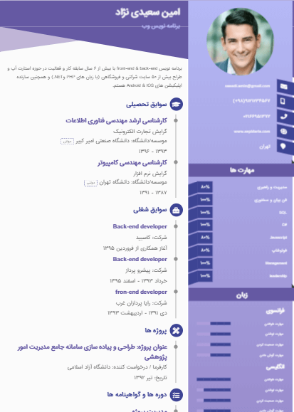 Sample resume of template27